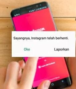 Cara Memperbaiki Mengatasi Sayangnya Instagram Telah Berhenti