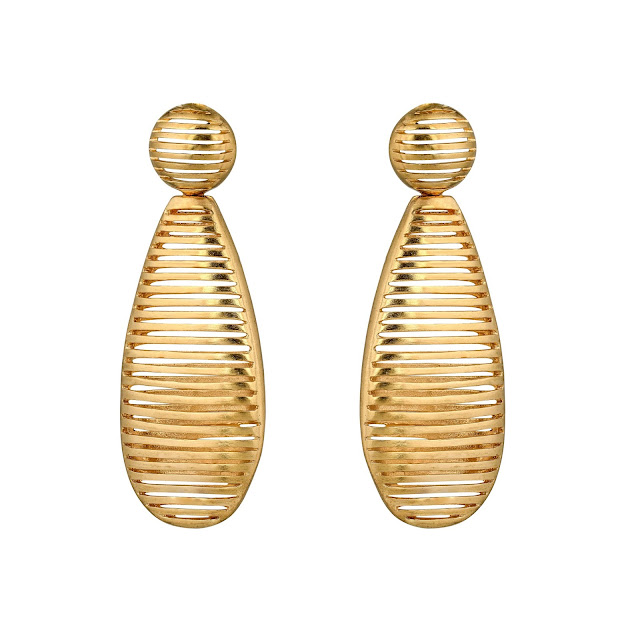 GOLD CASING EARRING by Studio Tara available at Velvetcase.com - Rs 12,149