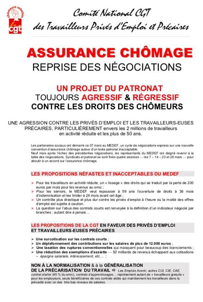 Assurance Chomage C Est Pas Au Medef De Faire Sa Loi Cgt