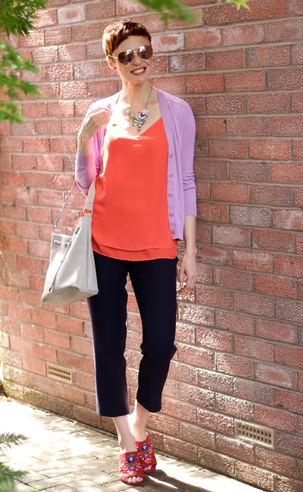 Orange, Lilac and Navy | 4 ways to Wear ANY Colour
