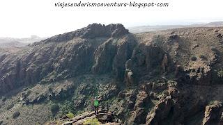 Cima del macizo donde se encuentran las vías ferratas en el barranco del Berriel