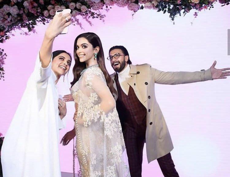 Ranveer Singh poses with Deepika Padukone's wax statue