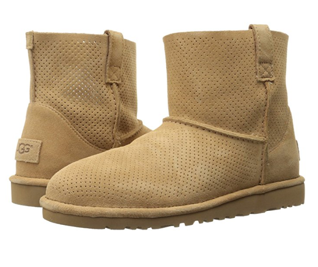 Amazon: UGG Classic Unlined Mini Perforated Winter Boots only $53 (reg $120) + free shipping!