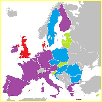 Mapa Eurozona
