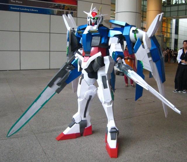 Gundam cosplay / Silla de jardin carrefour