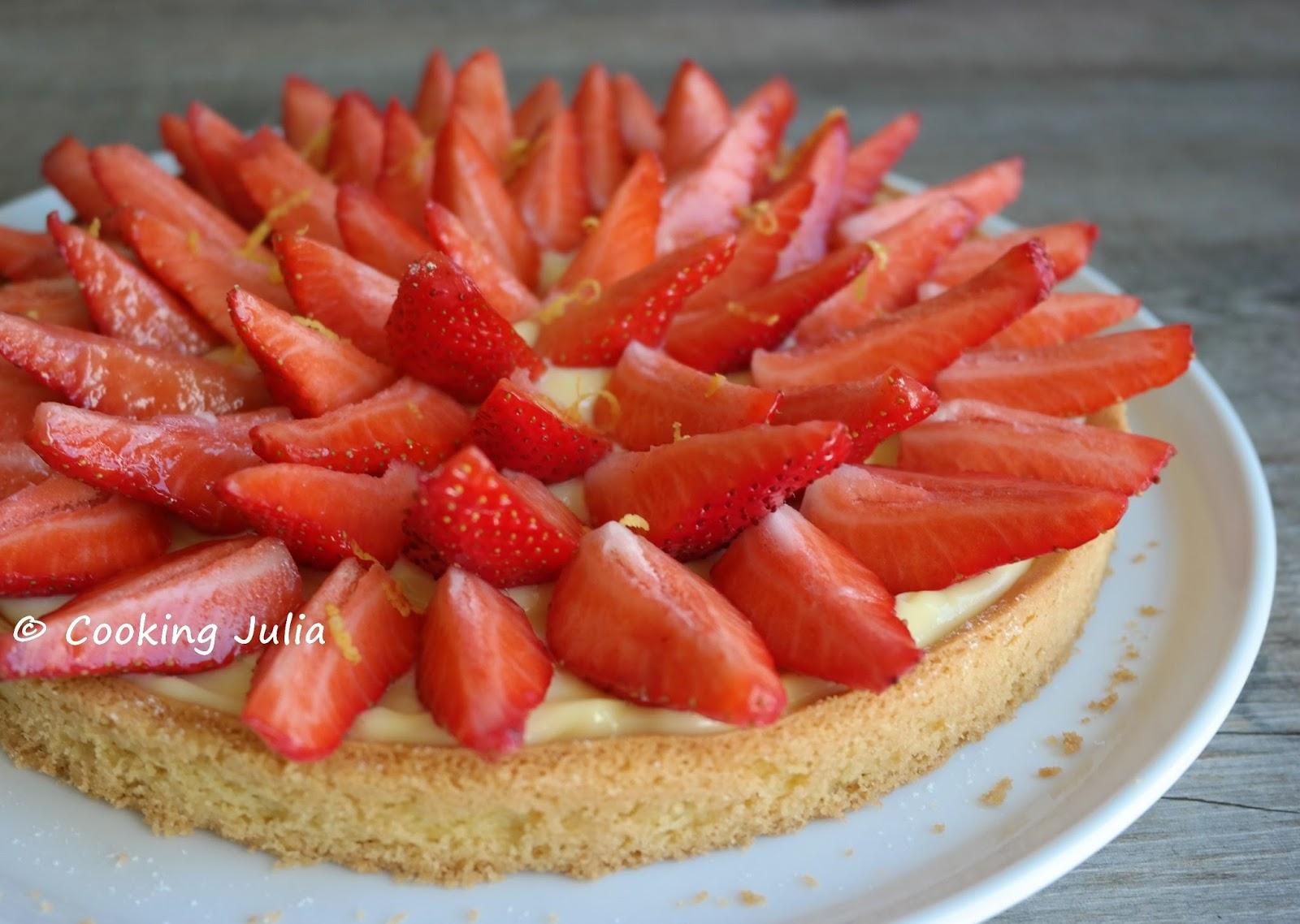 cooking julia tarte aux fraises. Black Bedroom Furniture Sets. Home Design Ideas