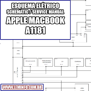 Esquema Elétrico Notebook Laptop Notebook Apple Macbook A1181 Manual de Serviço  Service Manual schematic Diagram Notebook Laptop Apple Macbook A1181    Esquematico Notebook Laptop Apple Macbook A1181