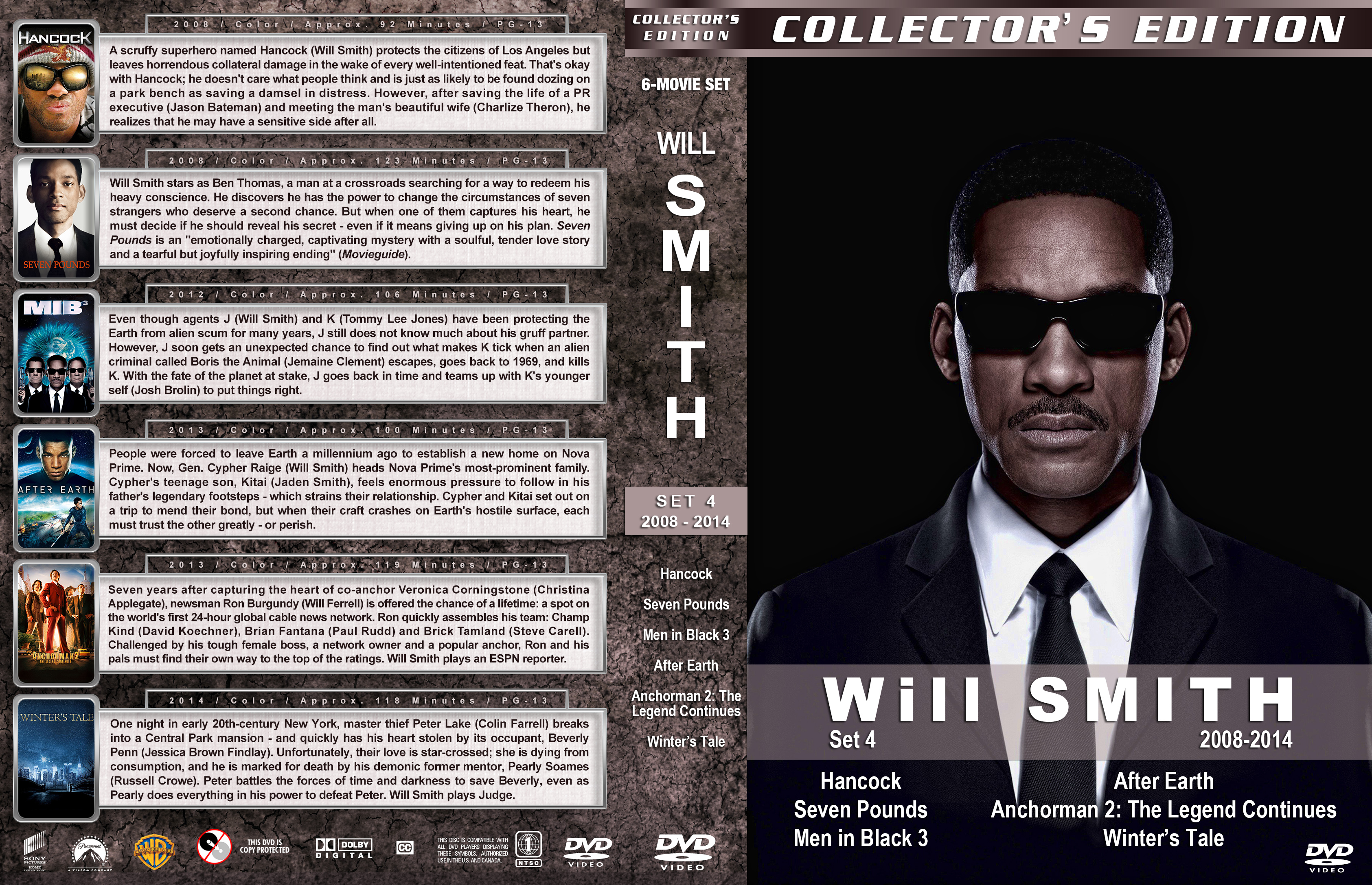will smith collectors edition set 4 20082014 dvd cover