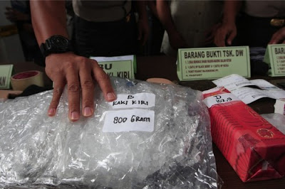 Meth bust in Indonesia