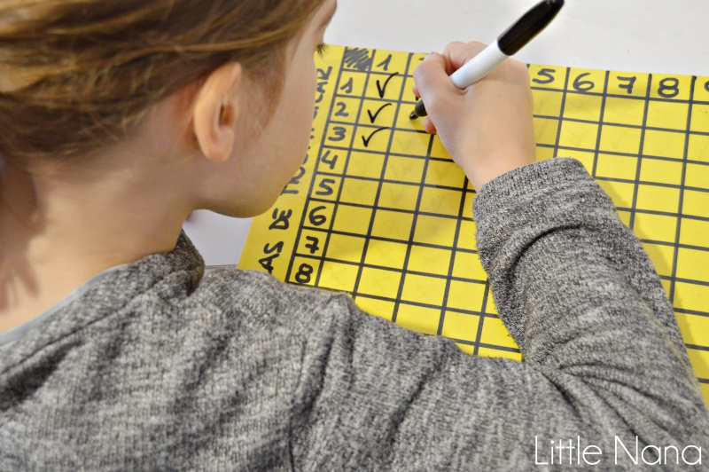 Recurso educativo tablas de multiplicar Montessori