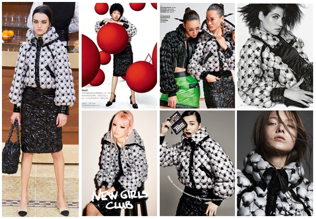 Same or Not 宣娜:Chanel銀色珠花羽絨外套