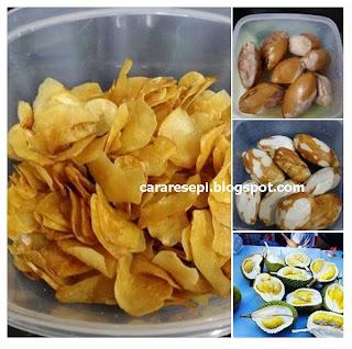 Resepi Kerepek Biji Durian Crunchy