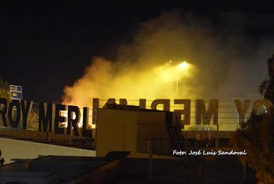Incendio próximo a Leroy Merlin, Tamaraceite