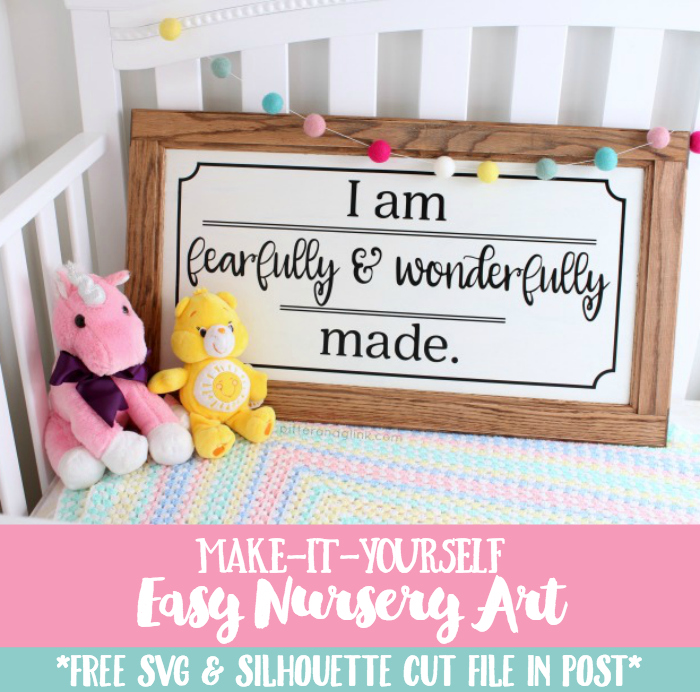 Make This Easy Nursery Art from a Cabinet Door