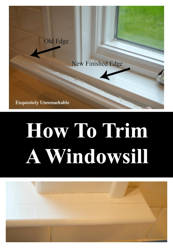 How To Trim A Windowsill