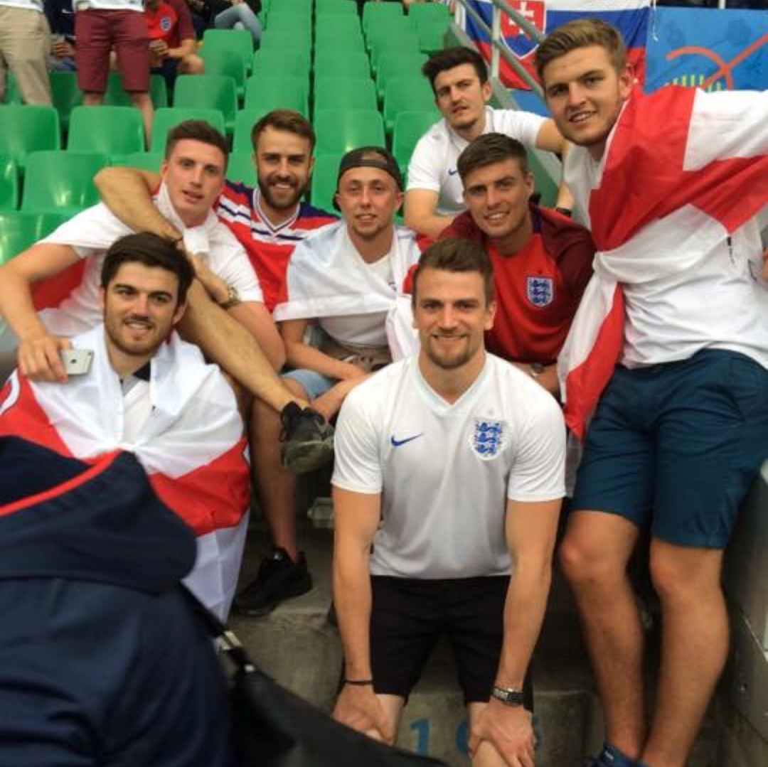 Harry Maguire with his friends at Euro 2016