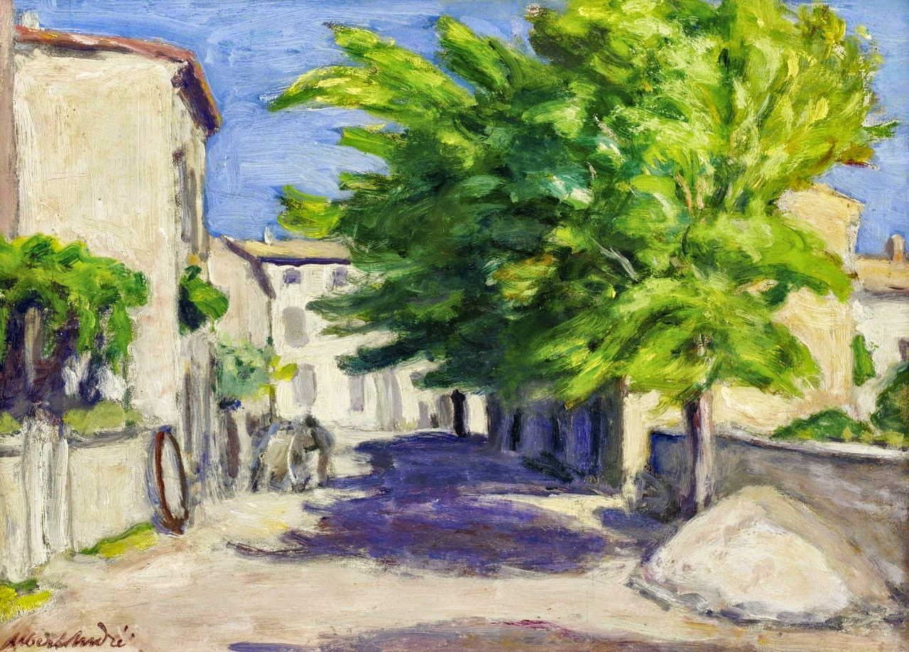 Albert Andr C A Village Street In Provence