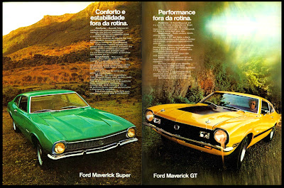 propaganda Ford Maverick Super e Maverick GT - 1973