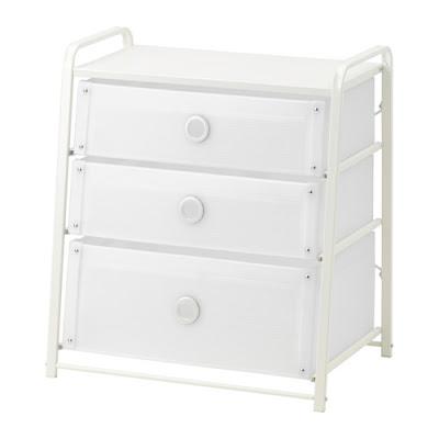 Detail Produk IKEA LOTE Lemari 3 Laci Putih