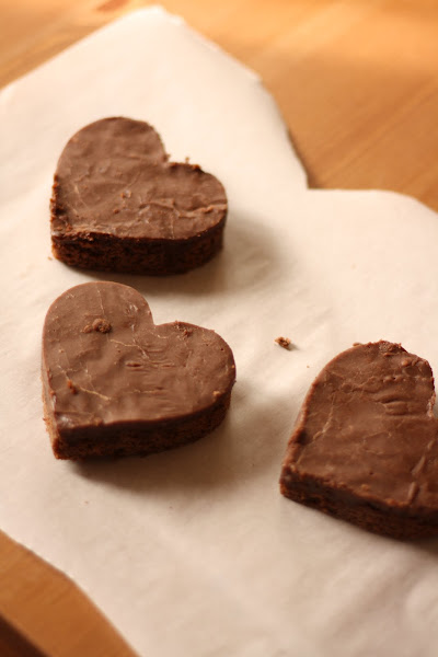 Chocolate Hearts From The Pioneer Woman S Texas Sheet Cake