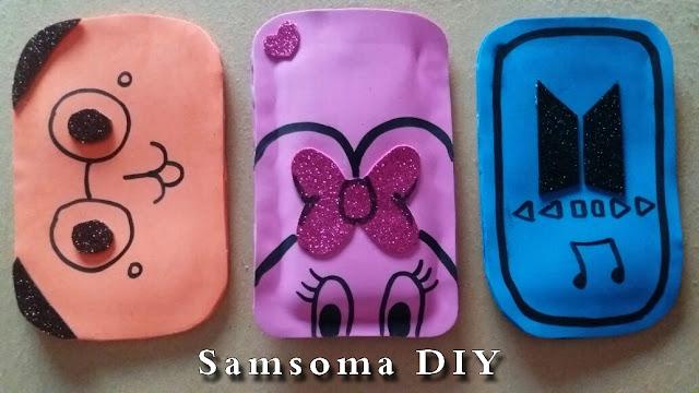 صنع غطاء هاتف بورق الفوم . عمل جراب للجوال بورق الفوم . صنع جراب موبايل  . DIY PHONE CASES . عمل كفر للموبايل  بورق الفوم