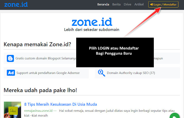 Cara Daftar Subdomain Zone Id Alternatif Domain Indonesia Gratis