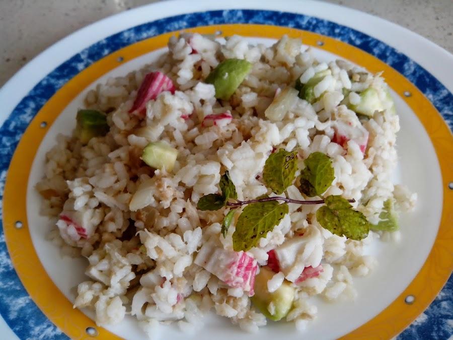Fotografía de arroz con merluza.