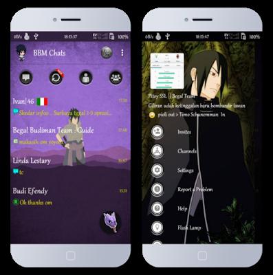 BBM Tema Sasuke Minimalist Versi Terbaru 3.1.0.13 dan Versi Lama APK