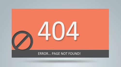 Clean 404 Error Template