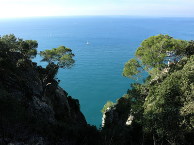 Seaside cliffs,Palmaria Island near Portovenere