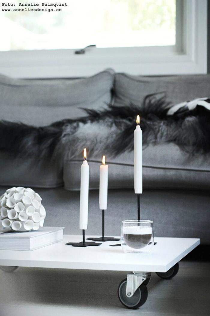 annelies design, webbutik, diy, bord, hjul, ljusstake, inredning, göra själv, möbel, möbler, bord