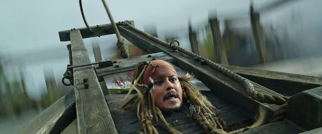 Captain Jack Sparrow almost beheaded looping scene pirates of the caribbean