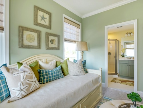 Blue and Green Daybed Room