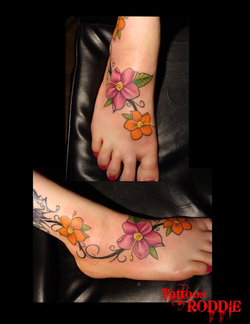 flower vine tattoo