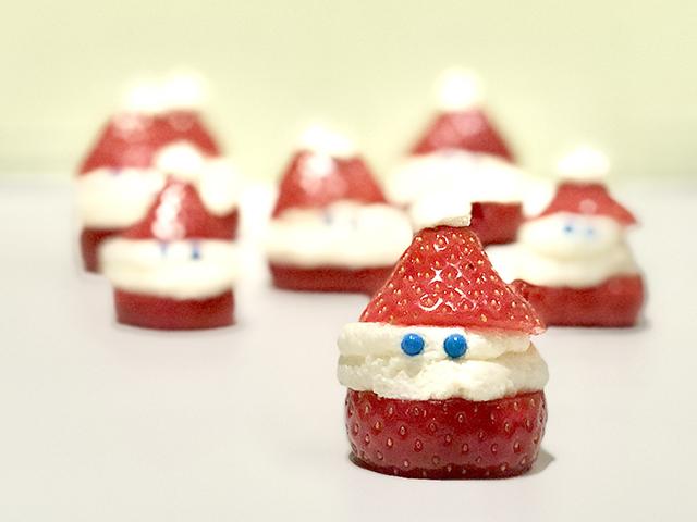 kersthapjes aardbei kerstman
