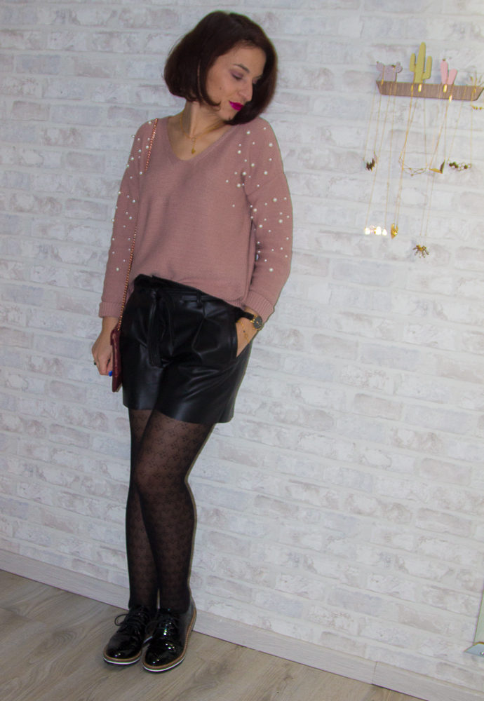look - promod - short - perles