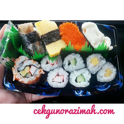 sushi, lama tak makan sushi, peminat sushi, sushi halal