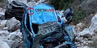 Σοβαρό τροχαίο στο Ρέθυμνο: Τα παιδιά σώθηκαν γιατί «πετάχτηκαν» από το αυτοκίνητο!
