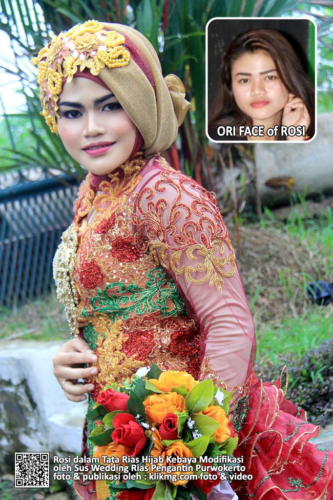 Rosi dalam Tata Rias Hijab Kebaya Modifikasi oleh Sus Wedding Rias Pengantin Purwokerto - Foto oleh : Klikmg Fotografer Wedding Purwokerto
