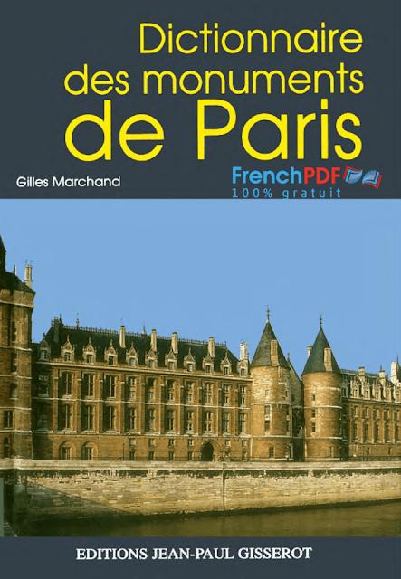 Dictionnaire des monuments de Paris pdf gratuit
