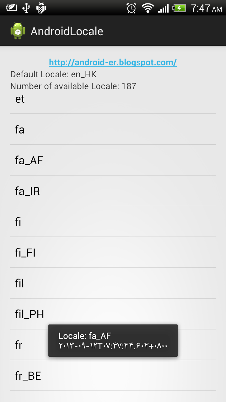 AndroidLocale_SimpleDateFormat Java Util Date Format Example on