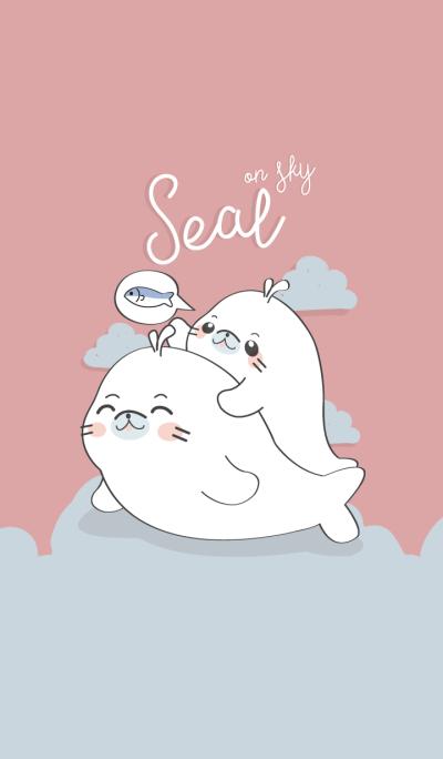Seal on Sky. (Pink ver.)