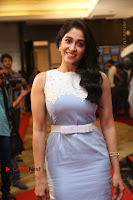 Actress Regina Candra Stills in Beautiful Sleeveless Blue Short Dress at SIIMA Short Film Awards 2017 .COM 0058.JPG
