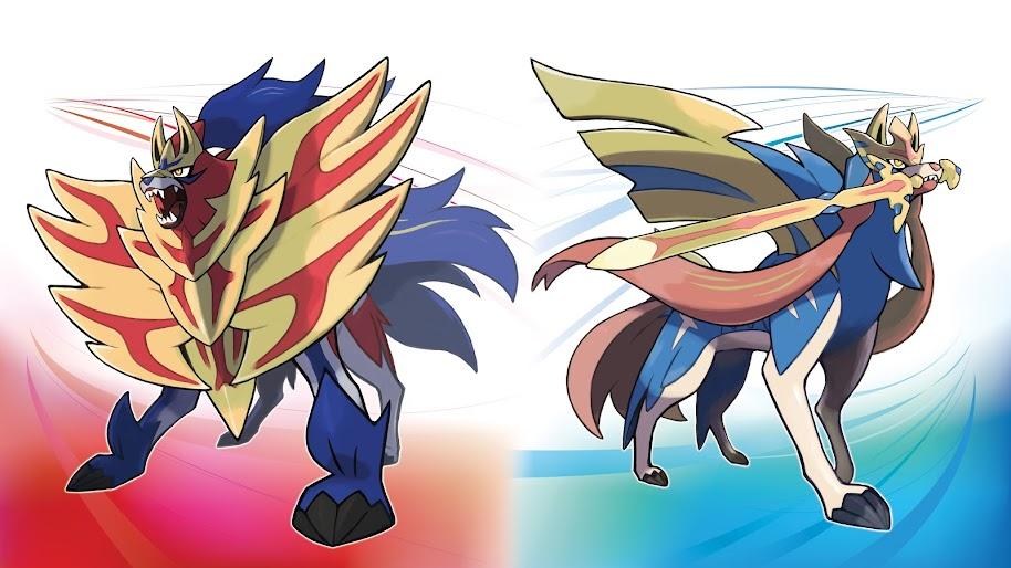 Zamazenta and Zacian, Pokemon Sword and Shield, 8K, #10 ...