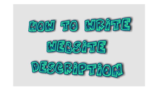 كتابة وصف الموقع