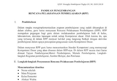 RPP Silabus Program Tahunan dan Program Semester KKM SK Dan KD Kelas 6 SD Mapel IPA berkas MS Word