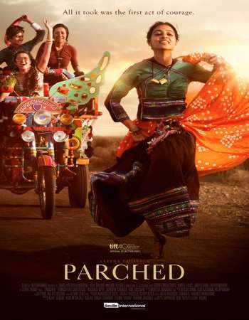Poster Of Parched 2016 Hindi 500MB BRRip 720p ESubs HEVC Watch Online Free Download downloadhub.in