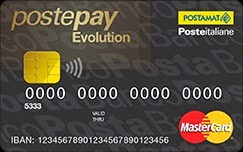 postepay evolution, carta prepagata ricaricabile con iban e bic/swift