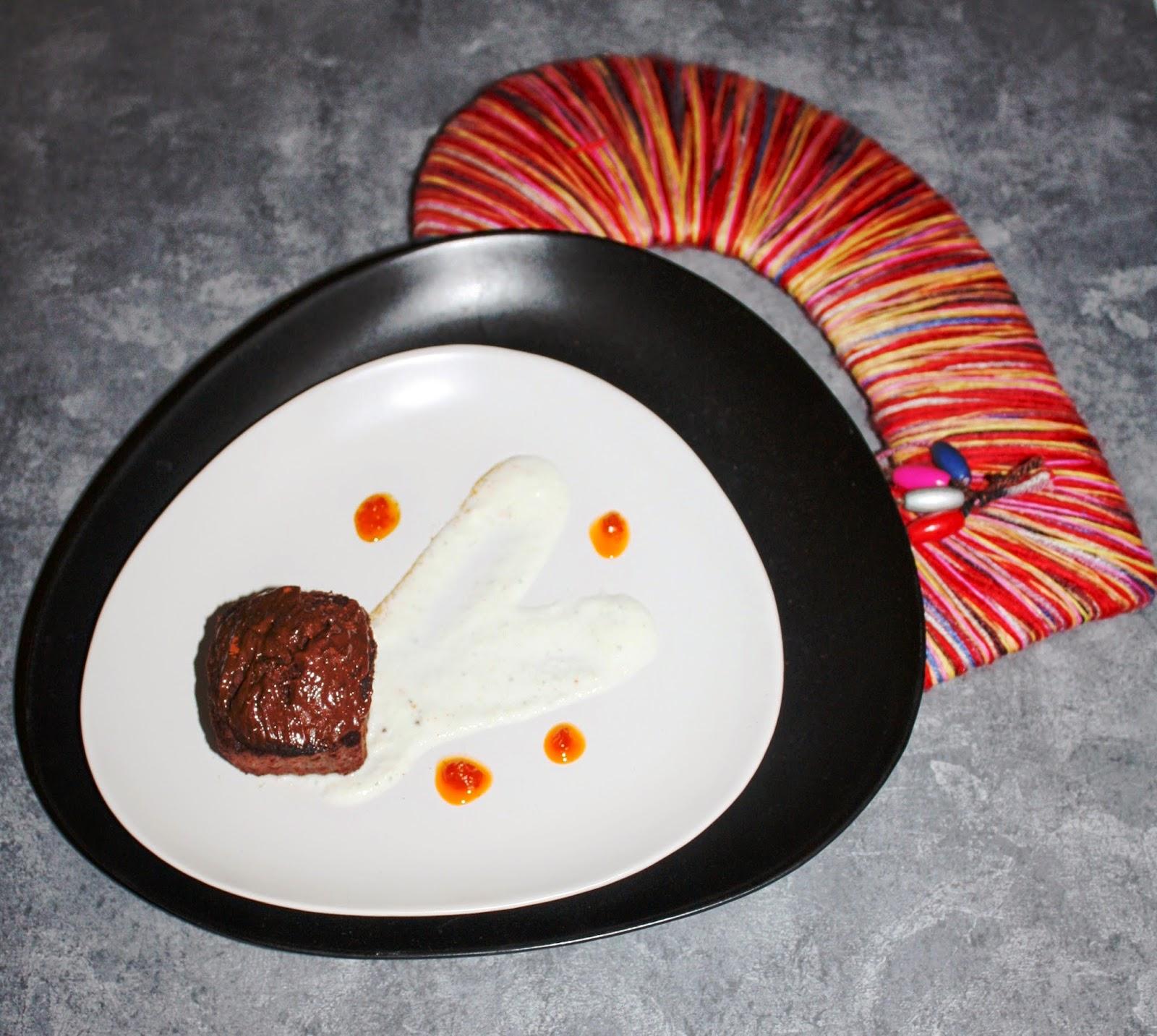 Muffin al cioccolato e peperoncino, pere e menta