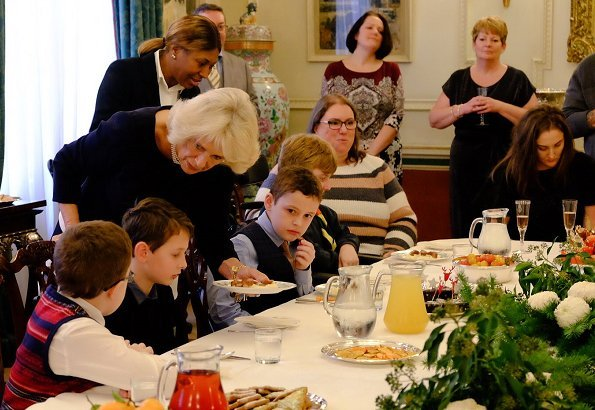 The Duchess of Cornwall invited children from Helen & Douglas House and Roald Dahl's Marvellous Children's Charity